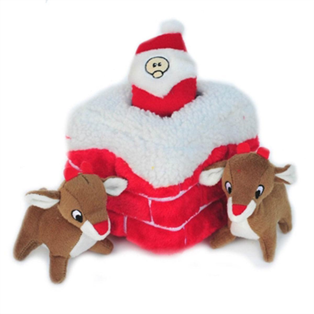 Holiday Burrow Dog Toy - Chimney