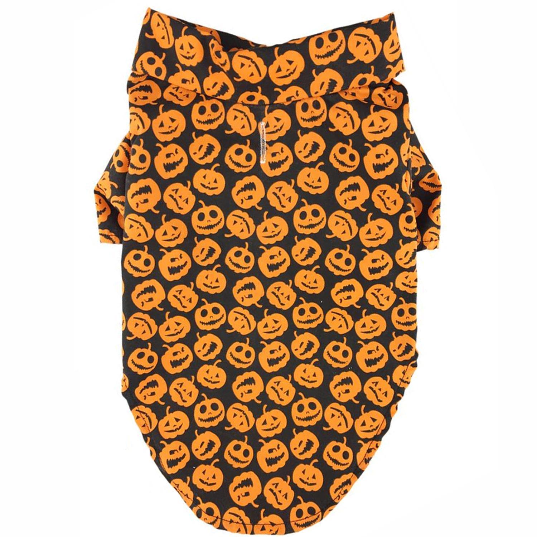 Doggie Design Holiday Dog Camp Shirt - Halloween Jack-0-Lanterns