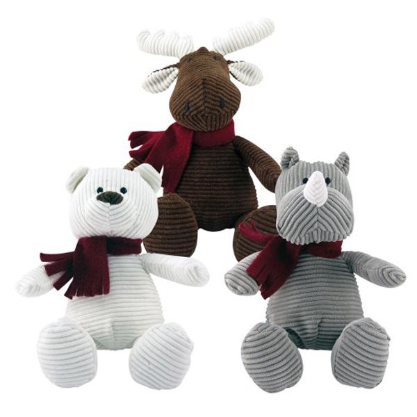 Holiday Corduroy Dog Toys