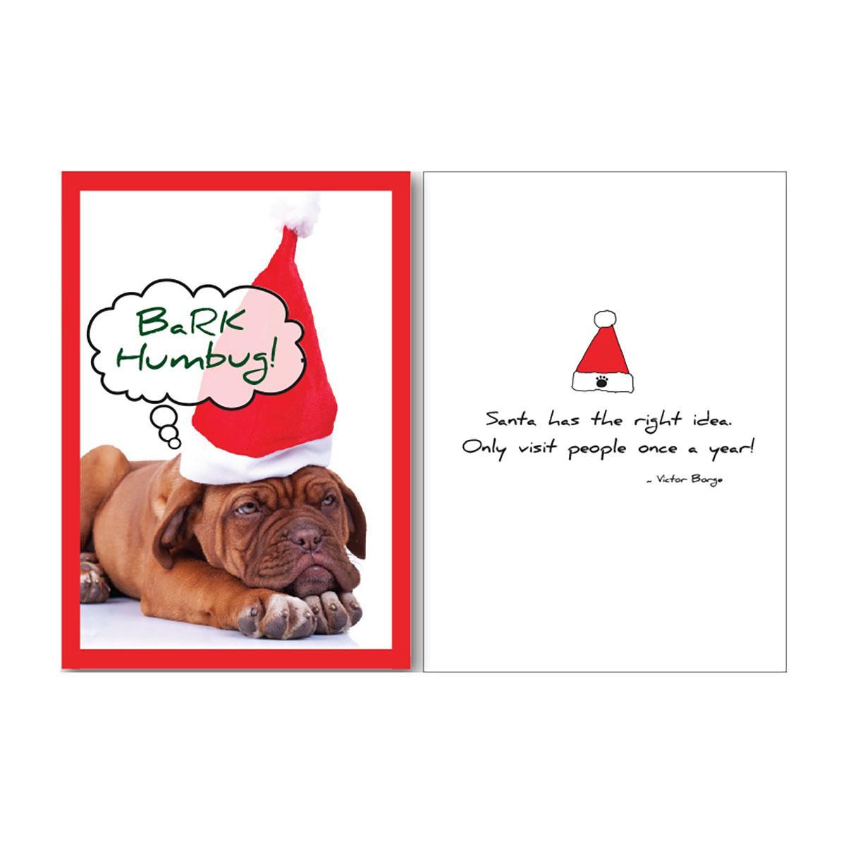 Holiday Greeting Card by Dog Speak - Bark Humbug!