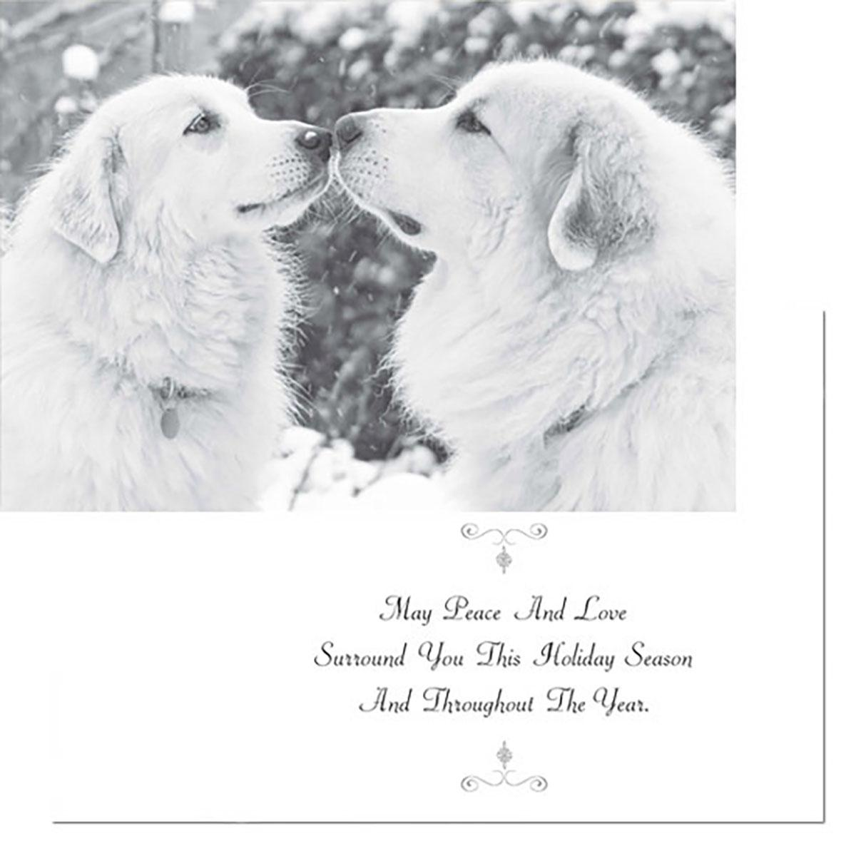 Holiday Greeting Card by Dog Speak - May Peace and Love