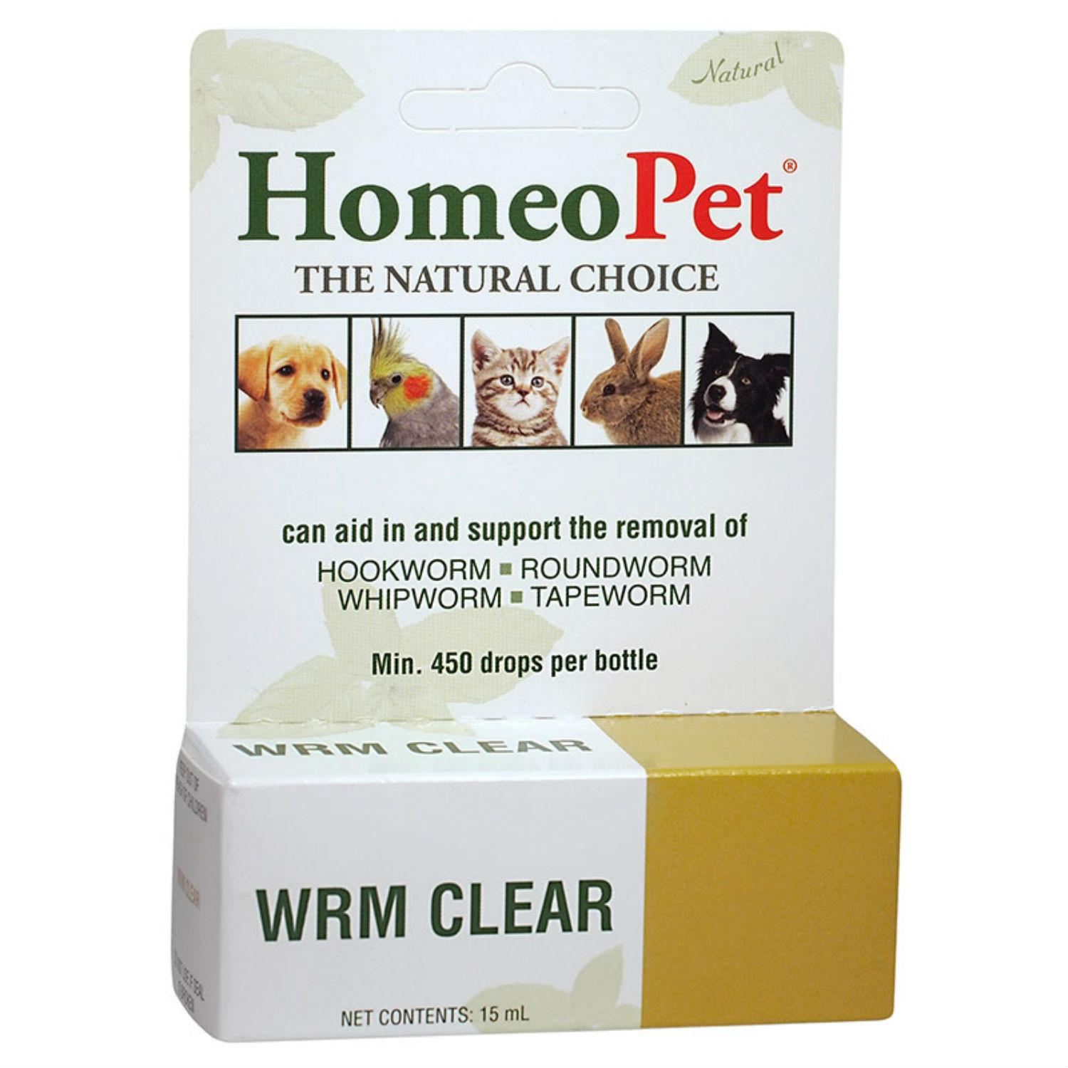 HomeoPet WRM Clear Supplement for Dog, Cat, and Small Animals