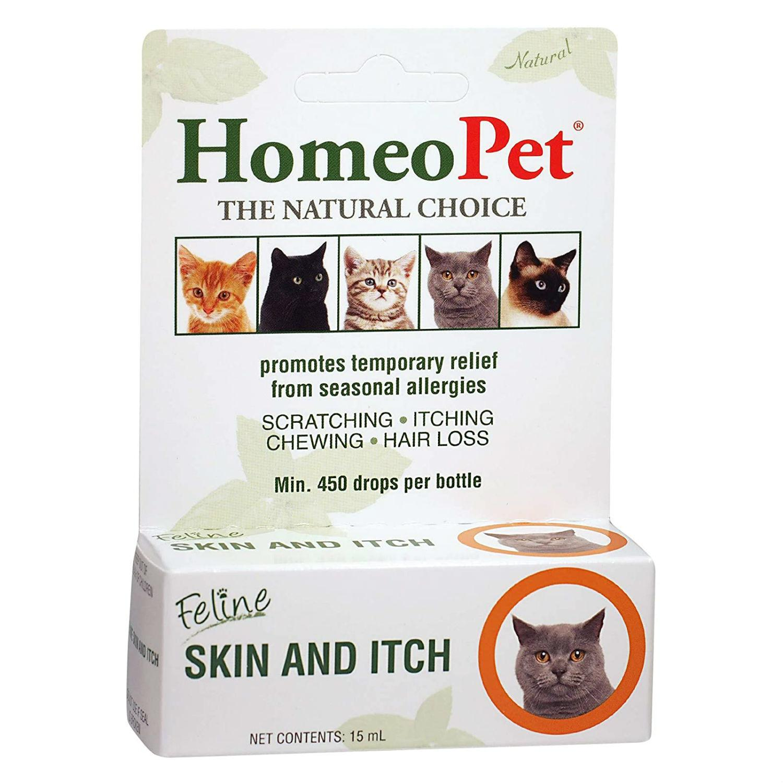 HomeoPet Feline Skin & Itch Relief Cat Supplement