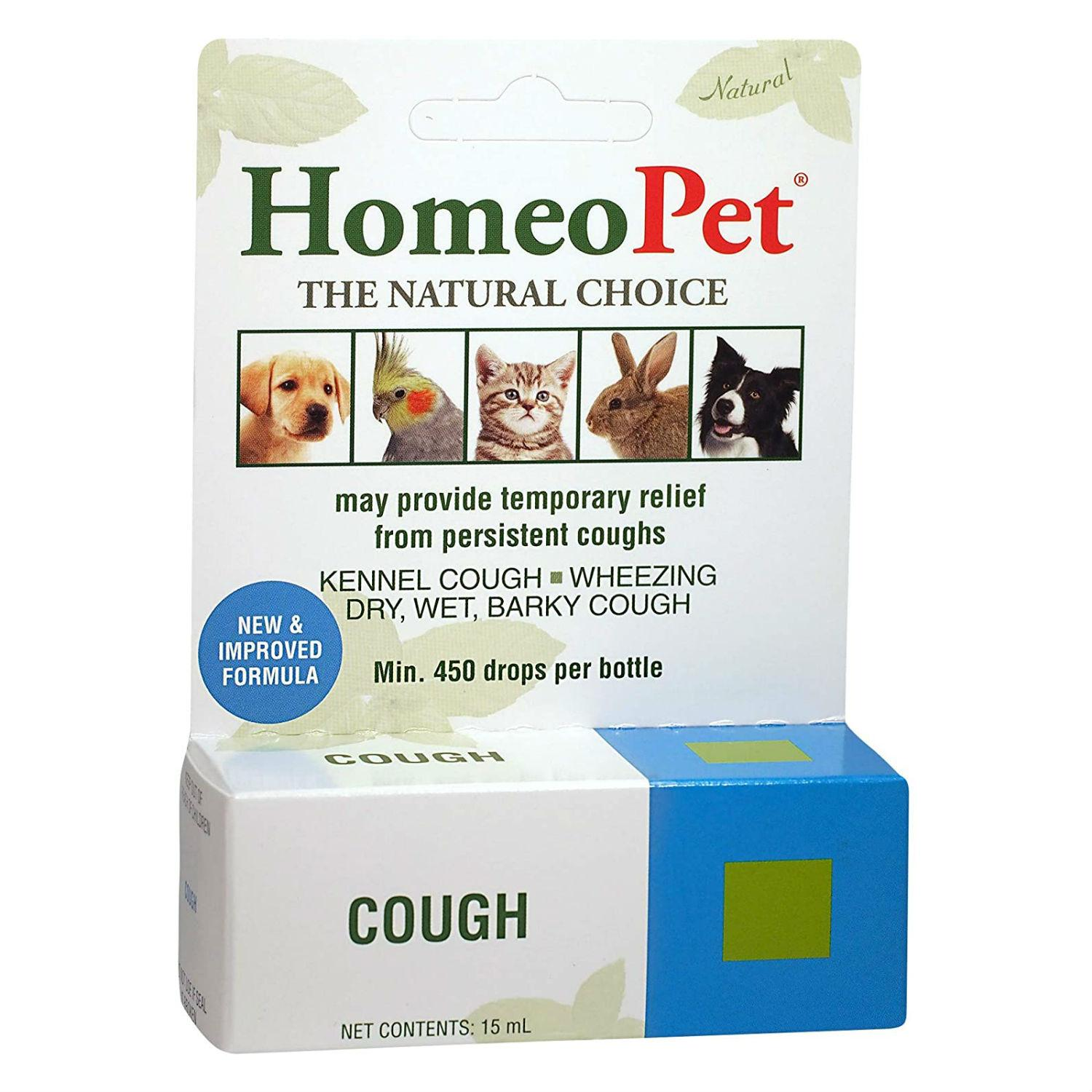HomeoPet Cough Supplement for Dog, Cat, and Small Animals