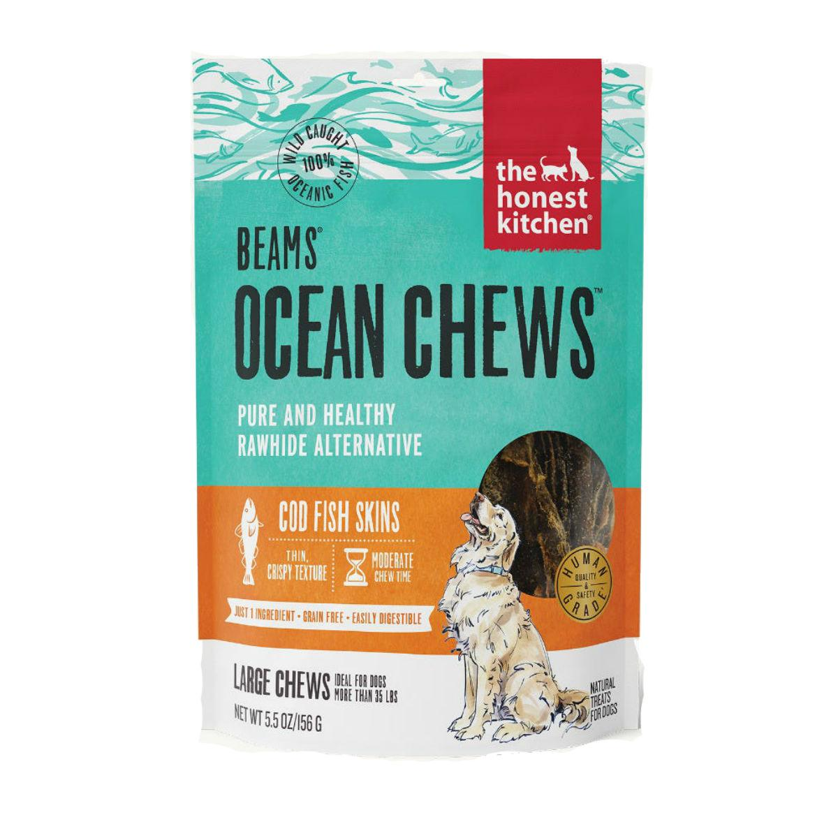The Honest Kitchen Beams Ocean Chews Dog Treat - Cod Skin