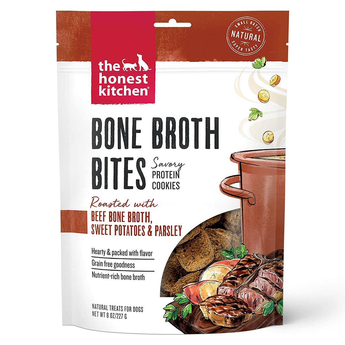 The Honest Kitchen Bone Broth Bites Dog Treats - Beef Bone Broth, Sweet Potatoes & Parsley Recipe