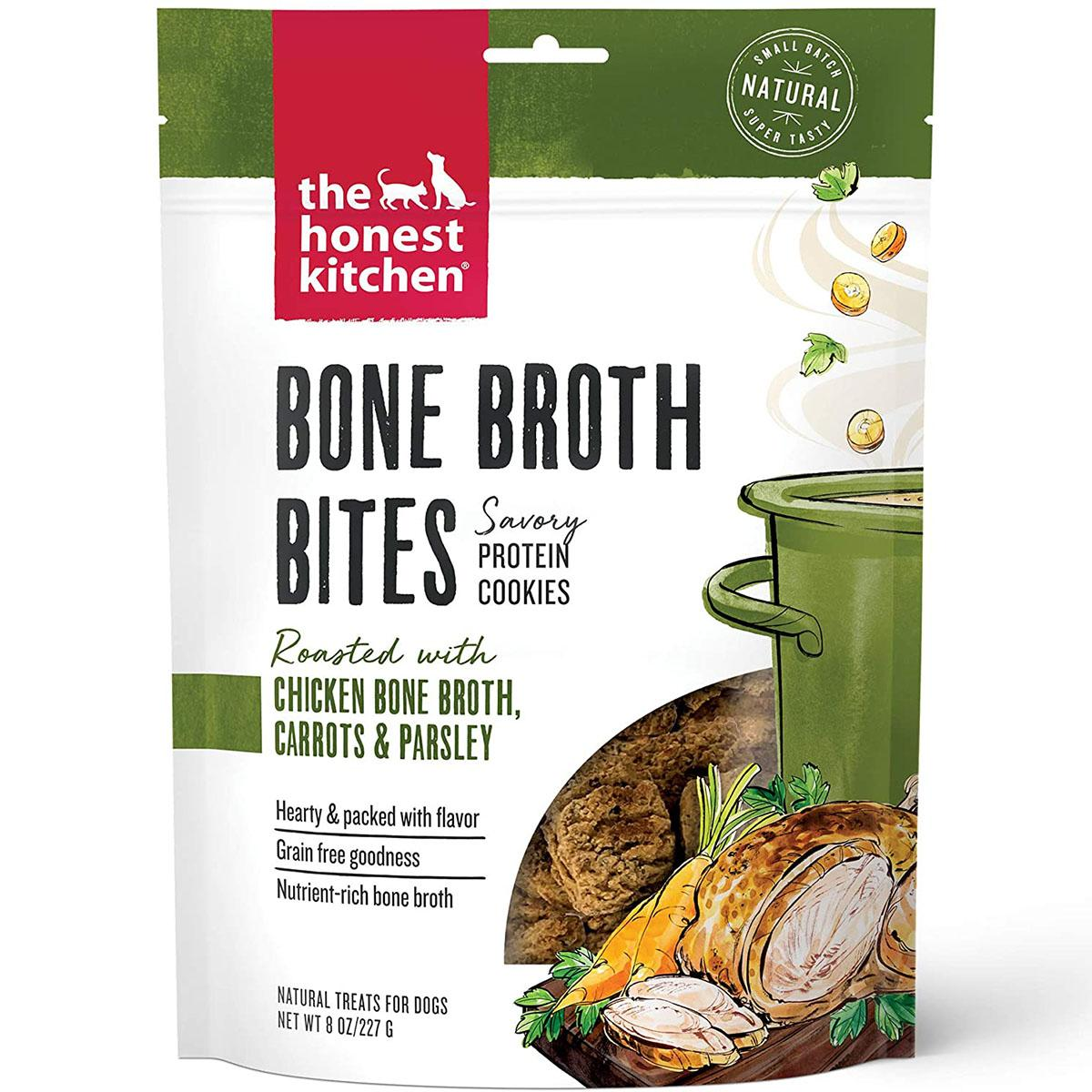 The Honest Kitchen Bone Broth Bites Dog Treats - Chicken Bone Broth, Carrots & Parsley Recipe