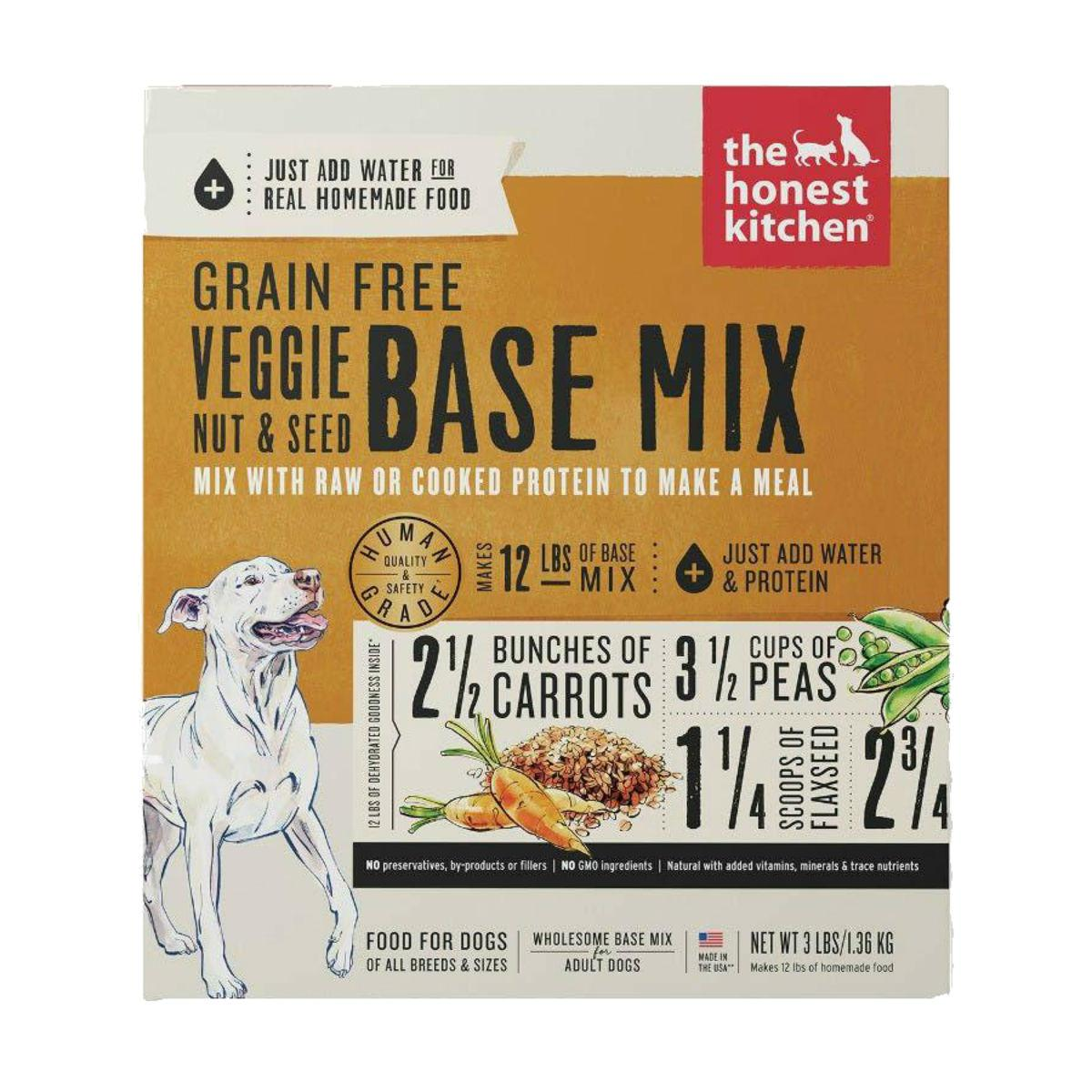 The Honest Kitchen Dehydrated Grain Free Veggie, Nut & Seed Base Mix Dog Food
