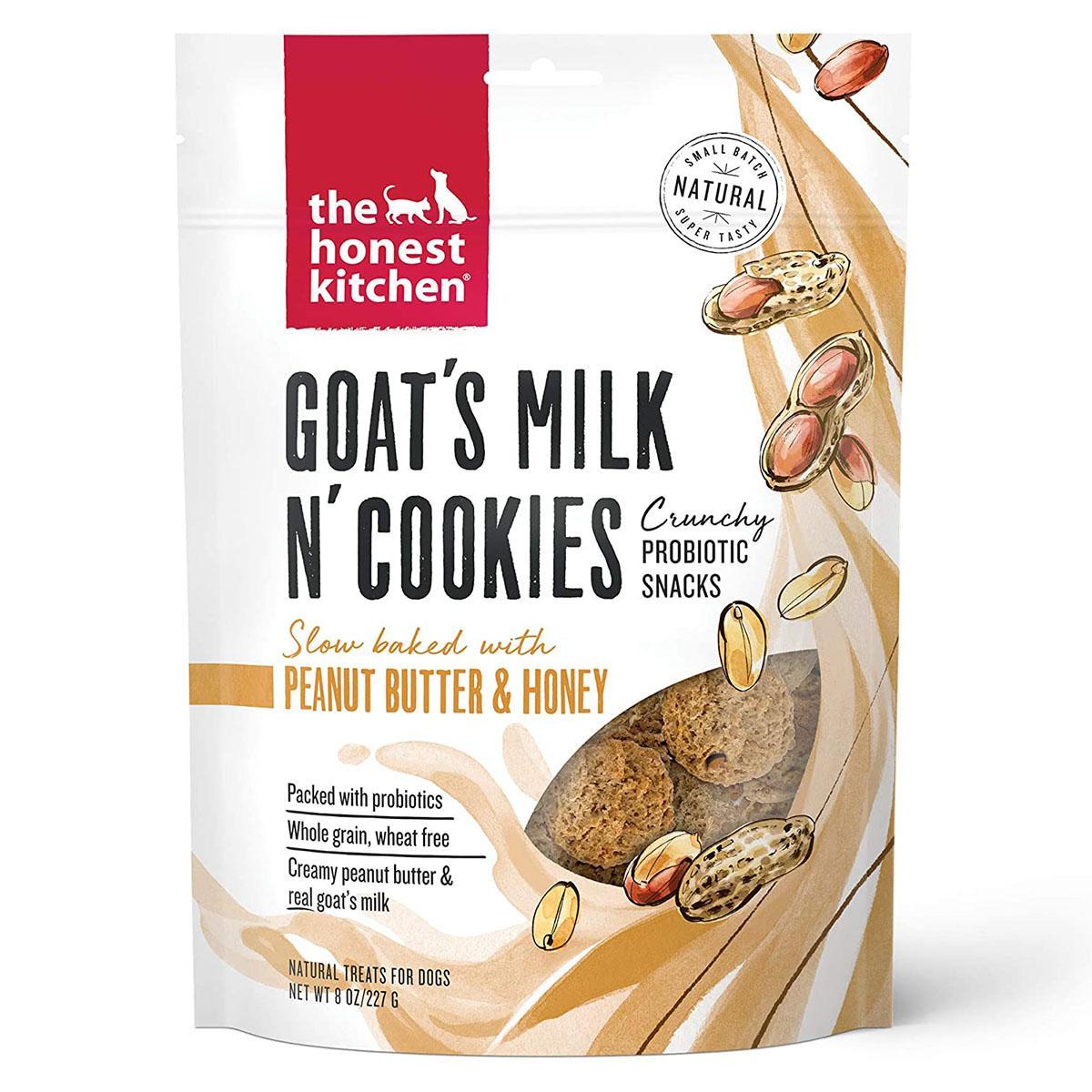 The Honest Kitchen Goat's Milk N' Cookies Dog Treats - Peanut Butter & Honey Recipe