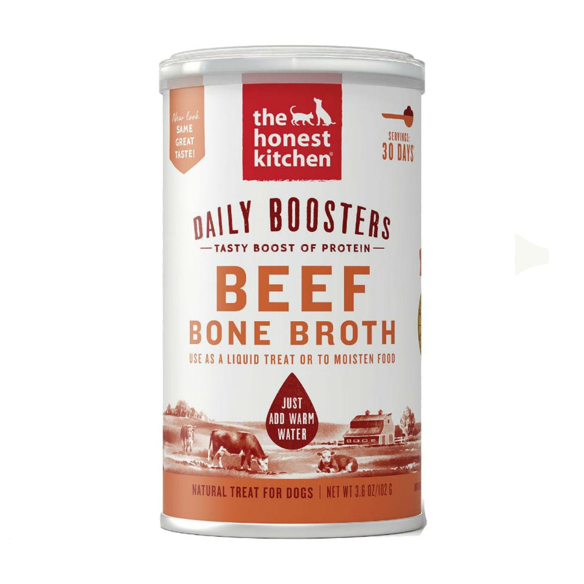 The Honest Kitchen Instant Daily Booster Pet Food Topper - Beef Broth