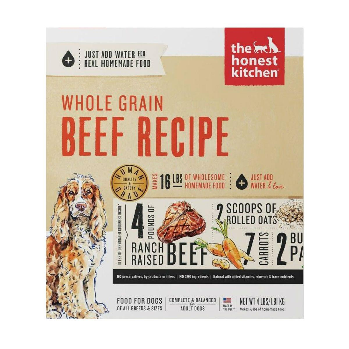 The Honest Kitchen Verve Whole Grain Dehydrated Dog Food - Beef
