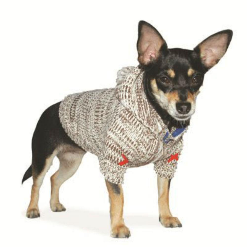 Hoodie Sweater Dog Coat by Dogo - Brown