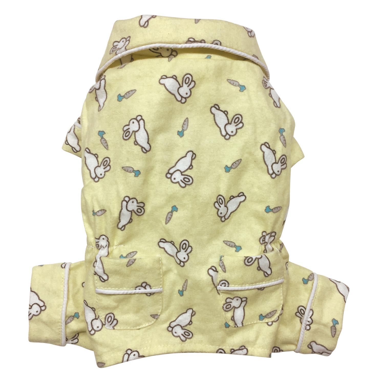 Hopping Bunny Flannel Dog Pajamas By Klippo