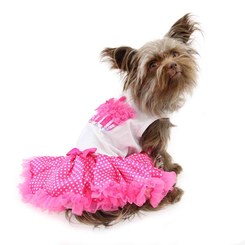 Hot Pink Cupcake Dog Dress by Pawpatu