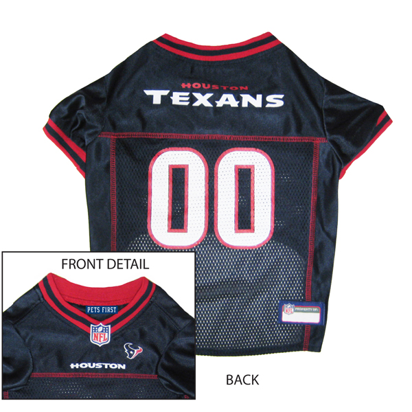 finest selection f956c 9f286 Houston Texans Officially Licensed Dog Jersey - Red Trim