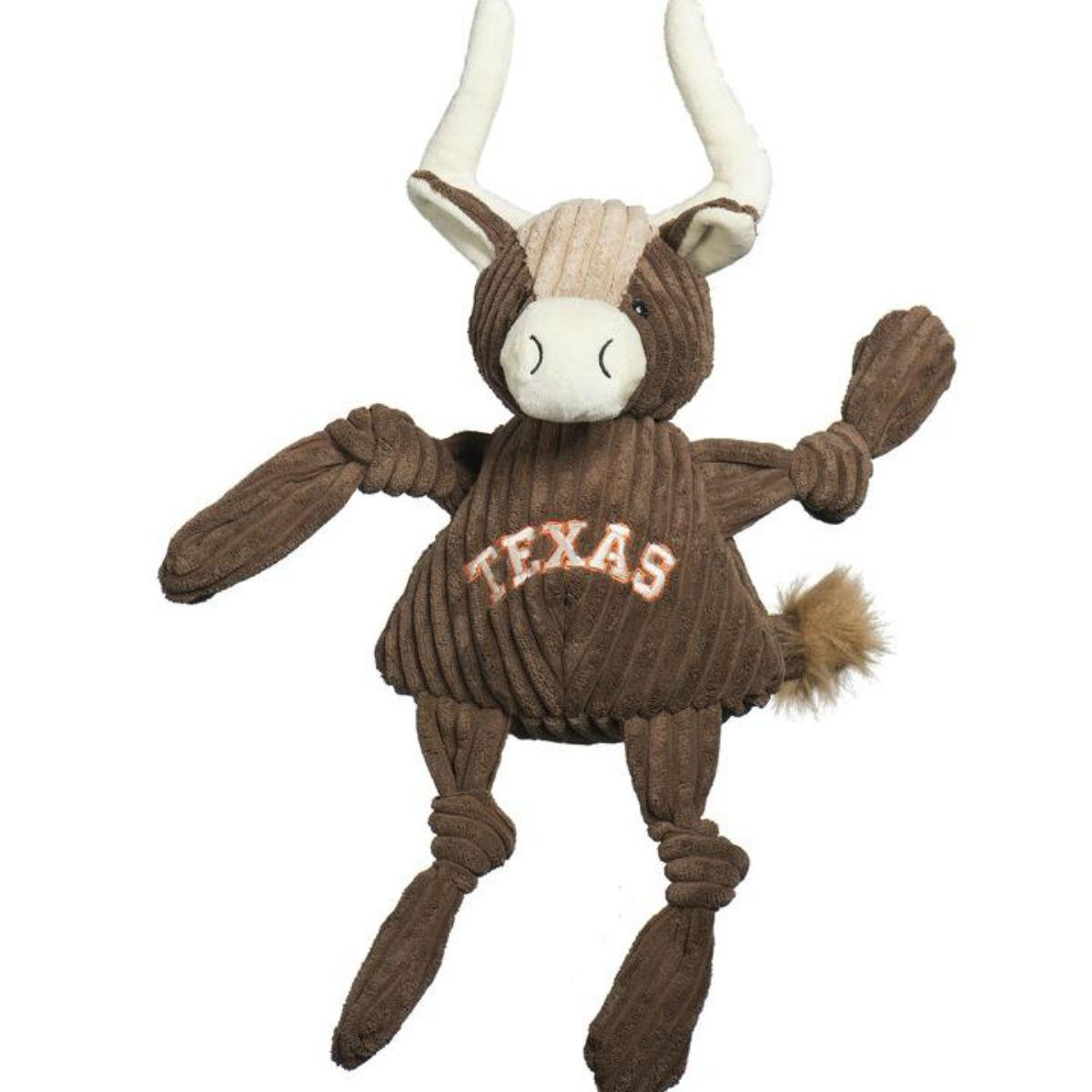 HuggleHounds Barnyard Knotties Dog Toy - Texas Longhorn