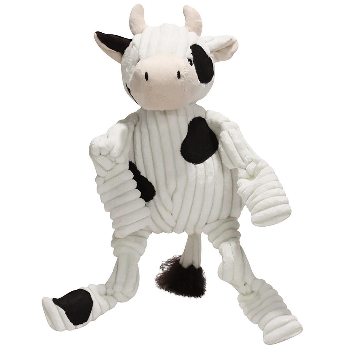 HuggleHounds Barnyard Knotties Dog Toy - Cow