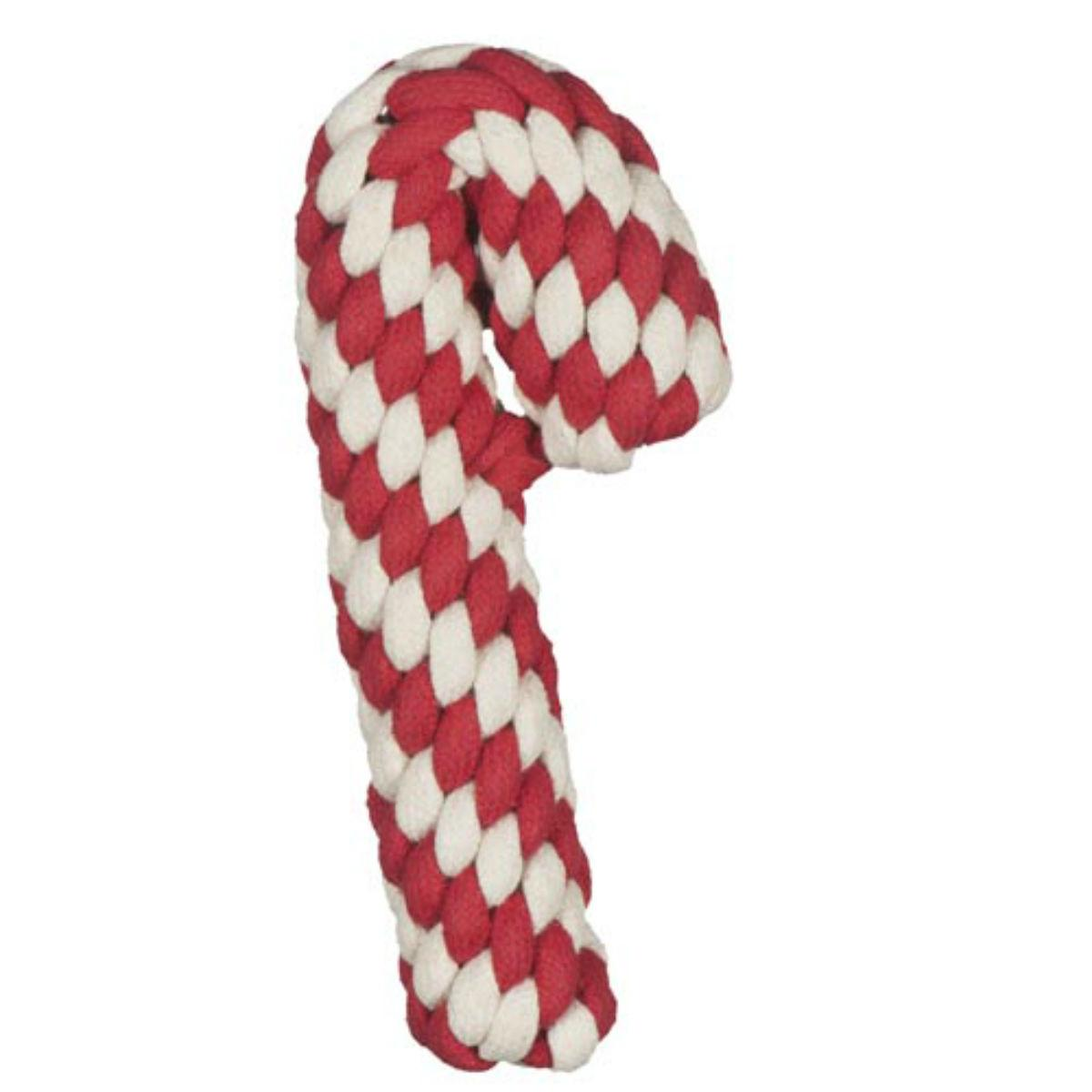 Hugglehounds Candy Cane Rope Dog Toy