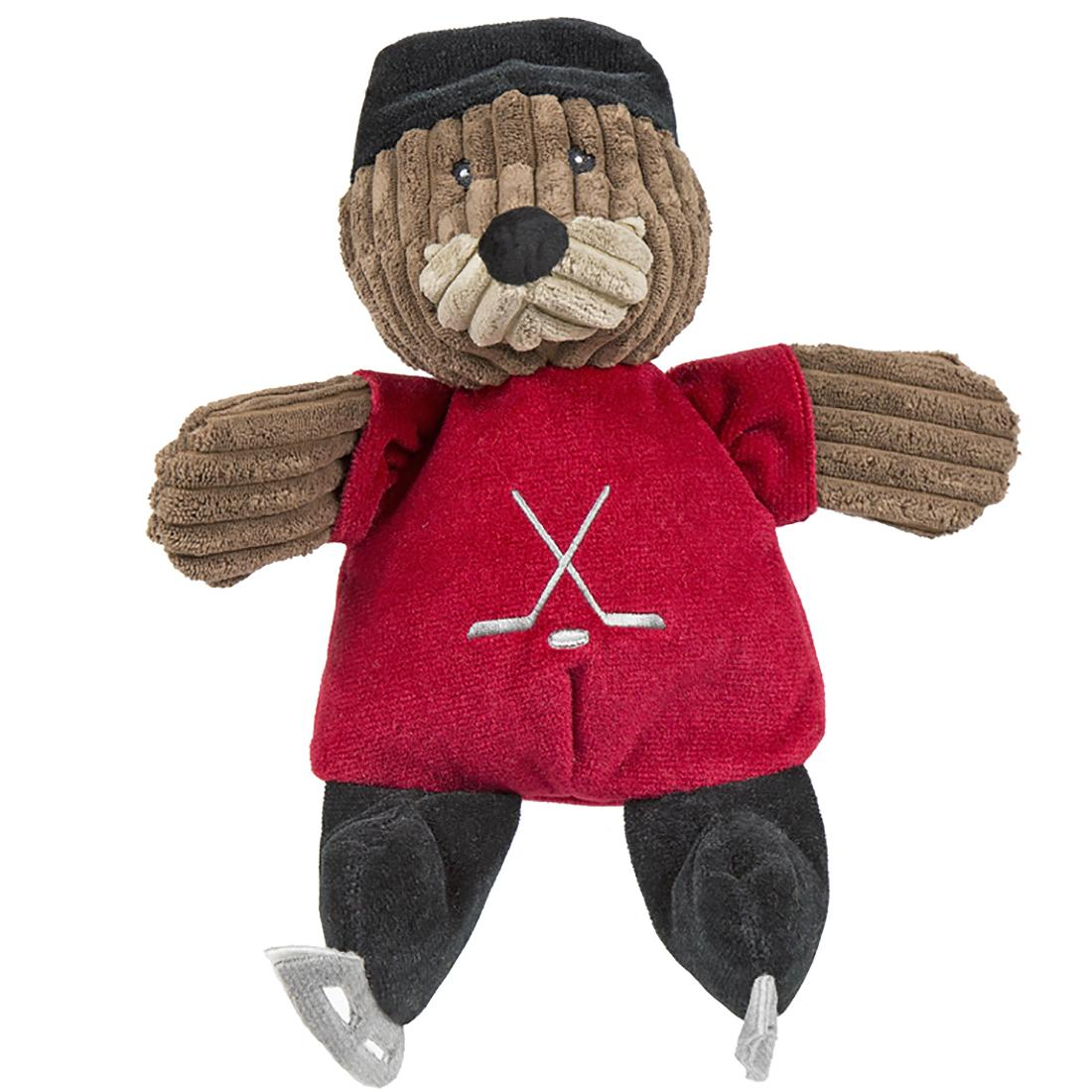 HuggleHounds Chubbie Buddie Plush Dog Toy - Fox Hockey Player