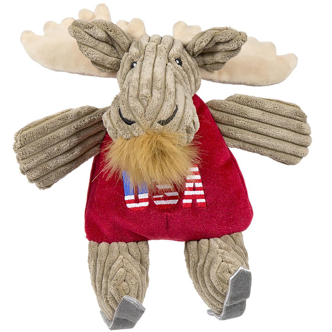 HuggleHounds Chubbie Buddie Plush Dog Toy - Moose Skier