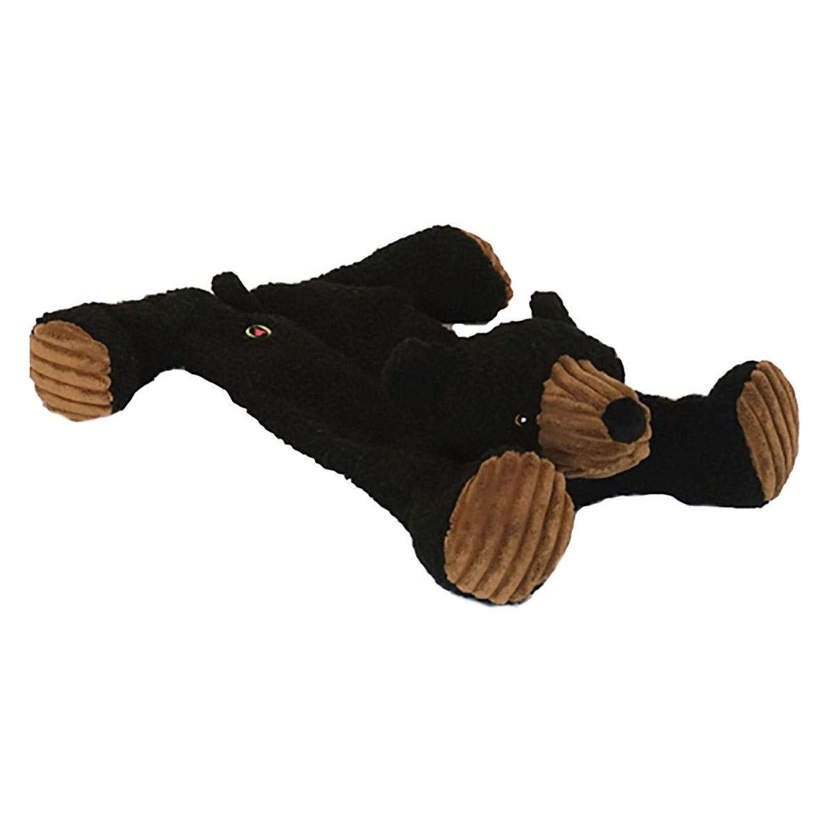 HuggleHounds Flatties Dog Toy - Bear