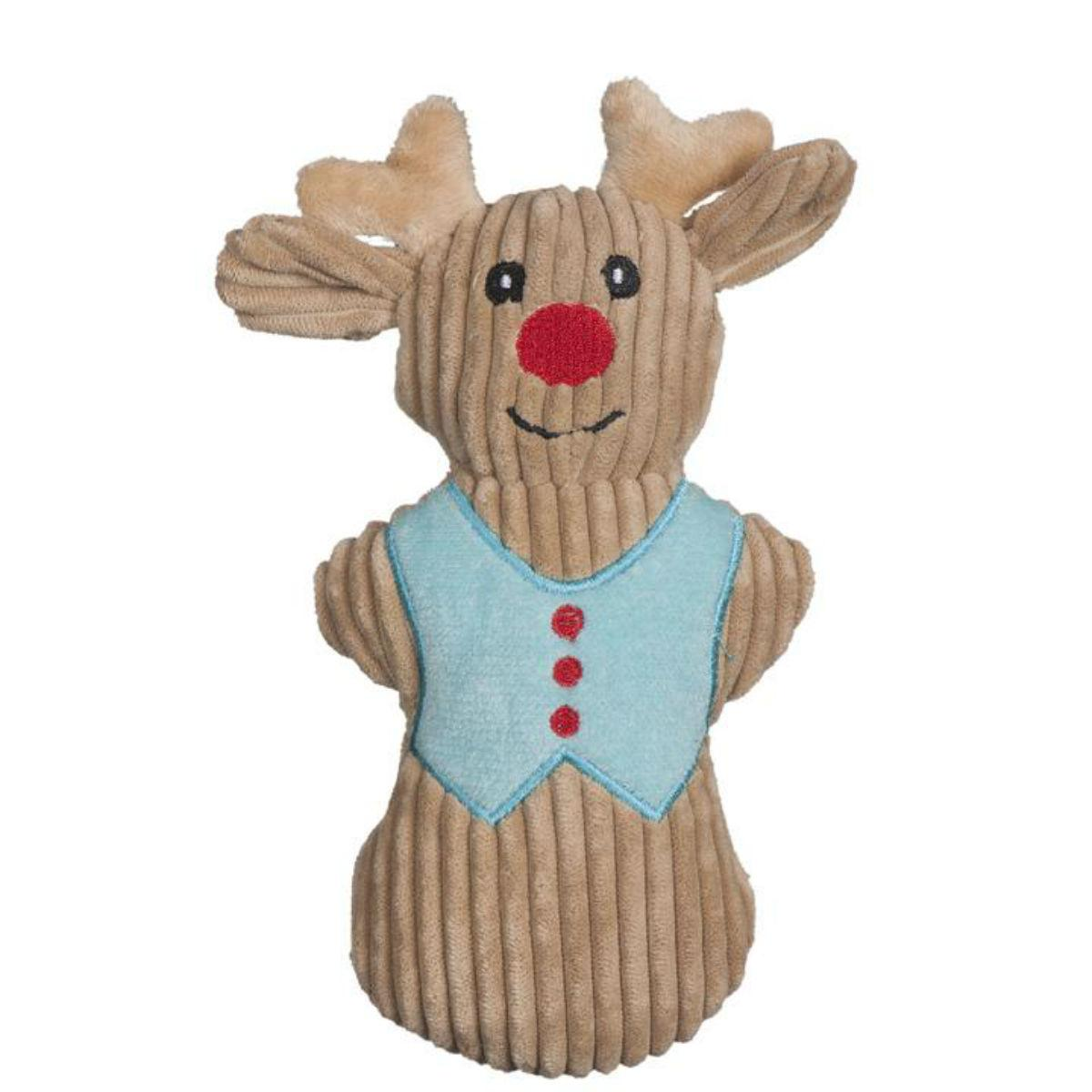 HuggleHounds Holiday Cookie Collection Dog Toy - Reindeer