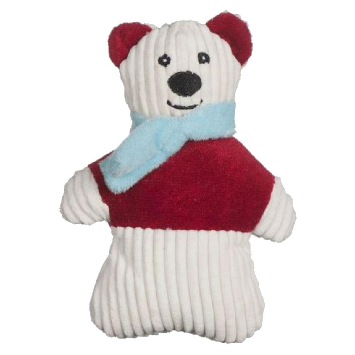 HuggleHounds Holiday Cookie Collection Dog Toy - Polar Bear