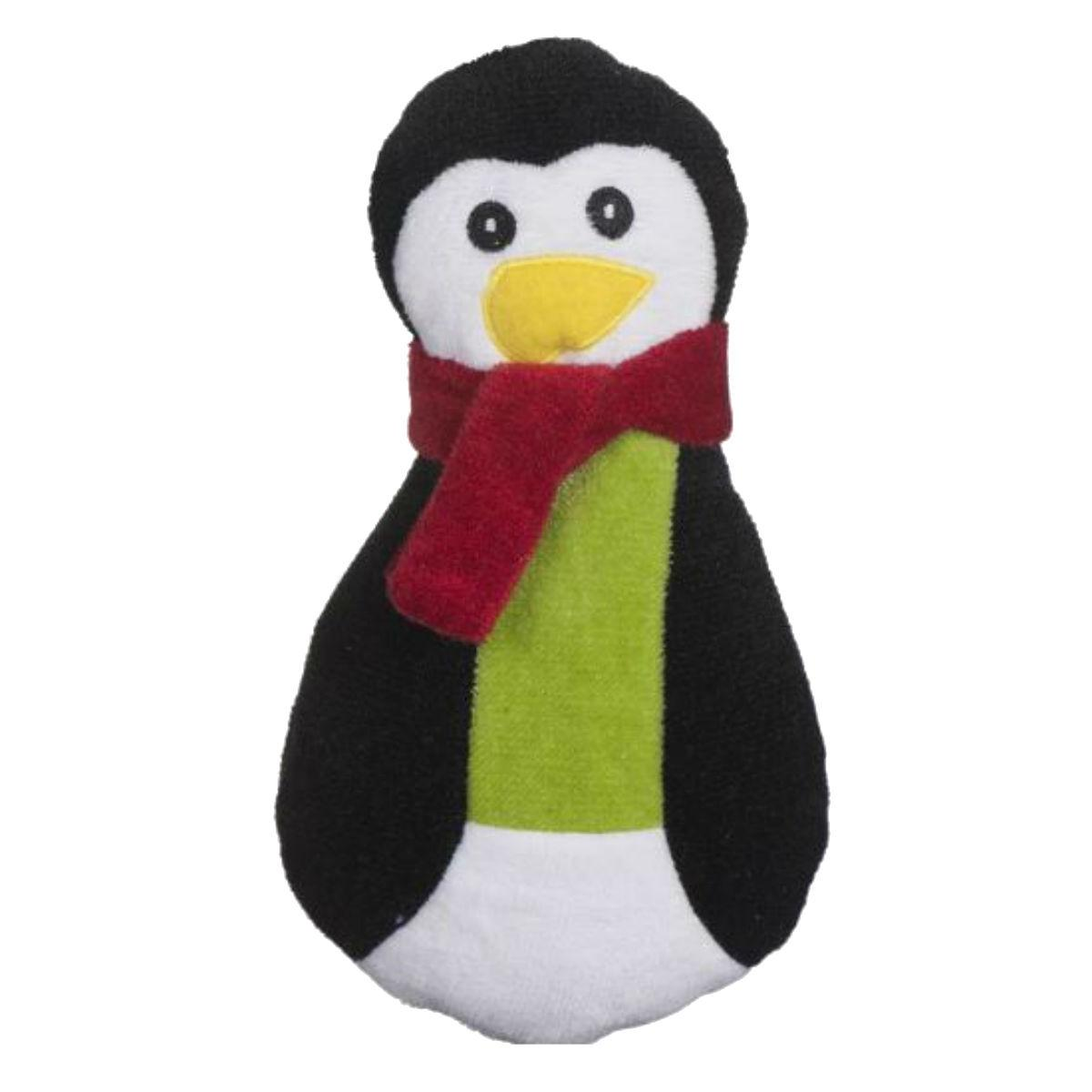 HuggleHounds Holiday Cookie Collection Dog Toy - Penguin