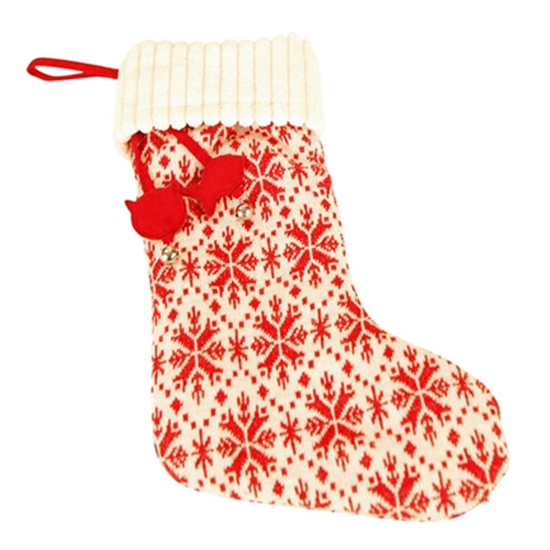 HuggleHounds Holiday Dog Stocking - Snowflake