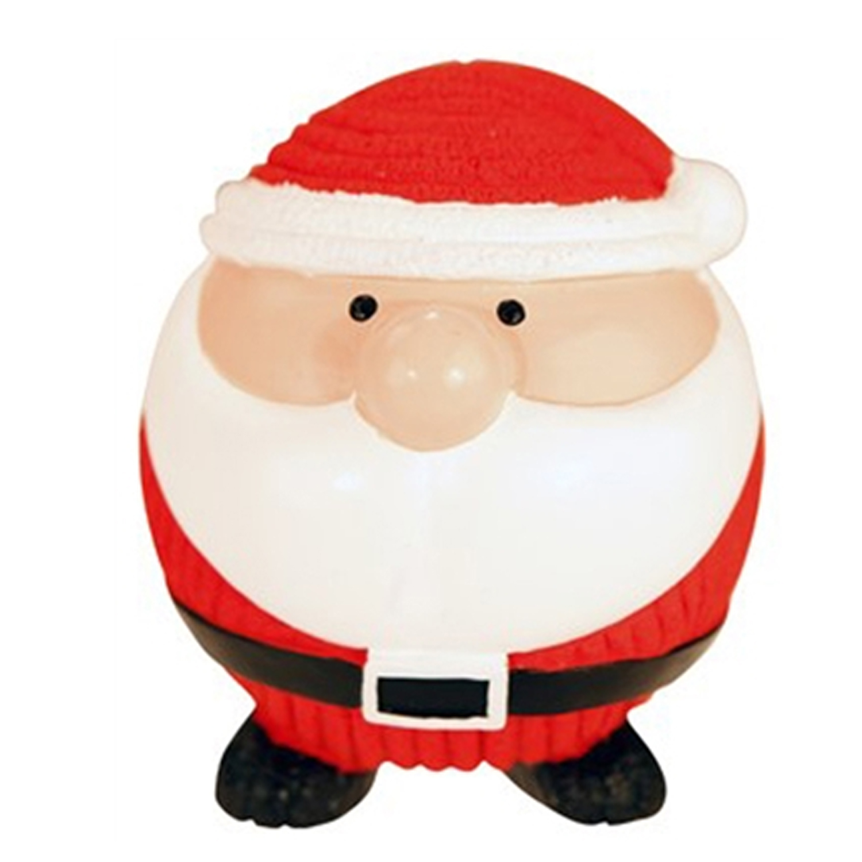 HuggleHounds Holiday Ruff-Tex Dog Toy - Santa Ball