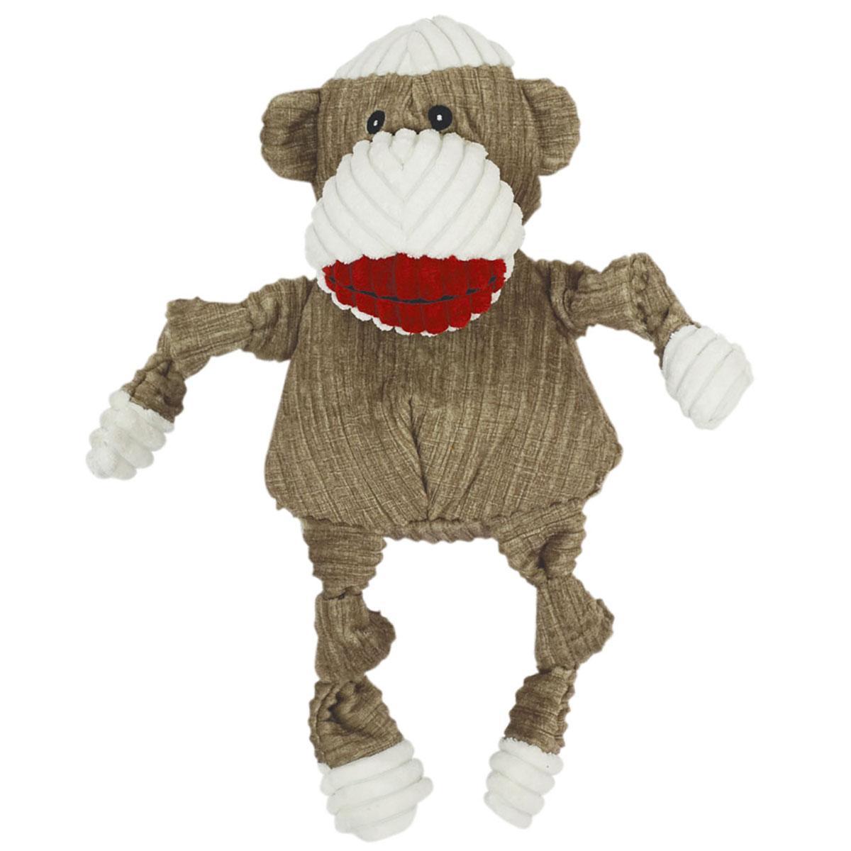 HuggleHounds Knottie Dog Toy - Sock Monkey