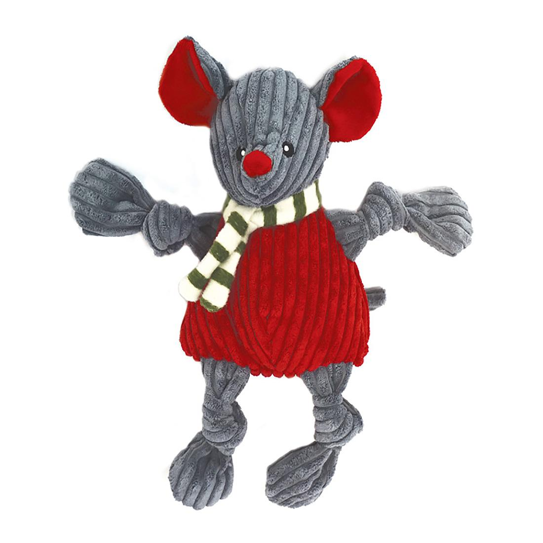 HuggleHounds Holiday Knotties Dog Toy - Mouse