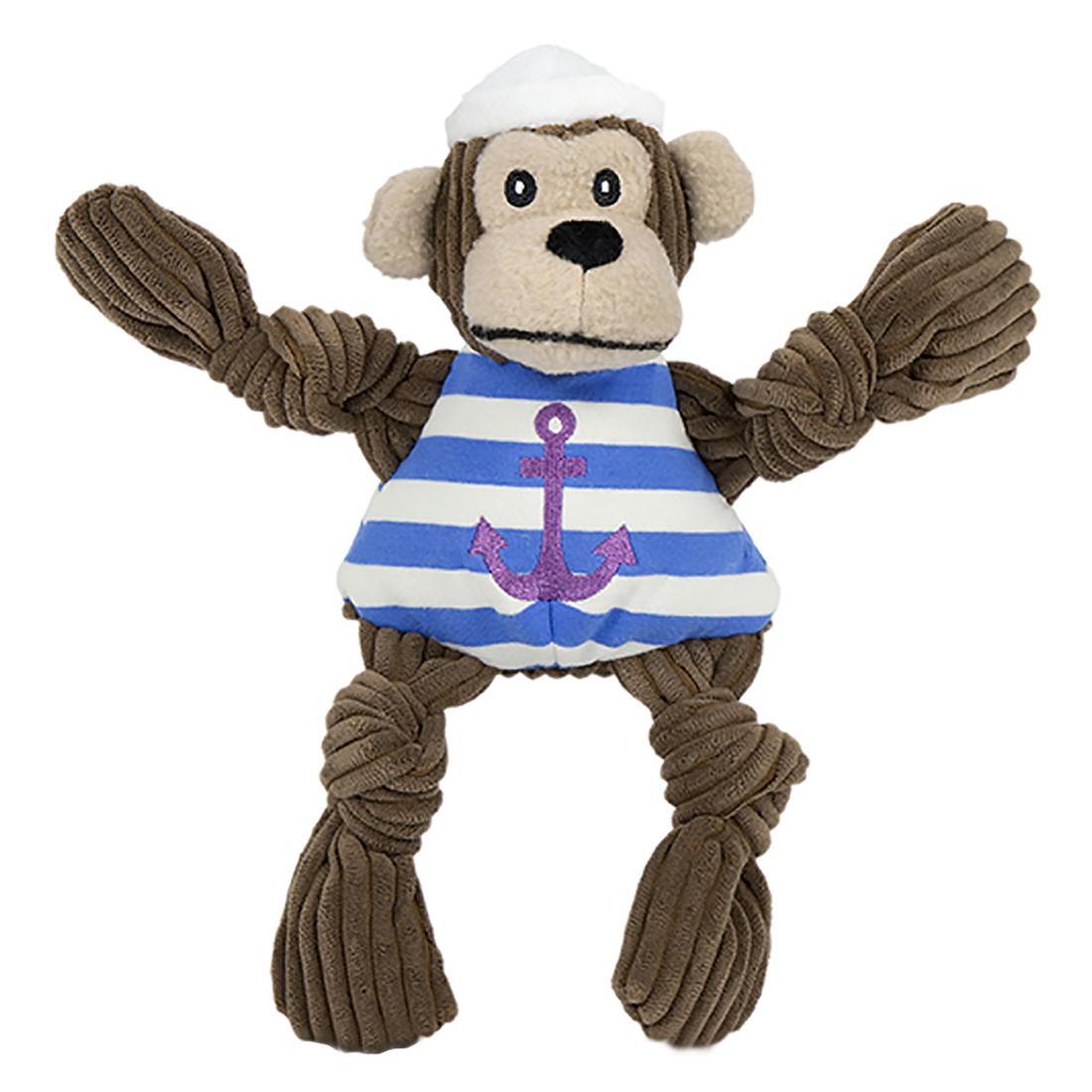 HuggleHounds Knotties Dog Toy - Sailor Chimp