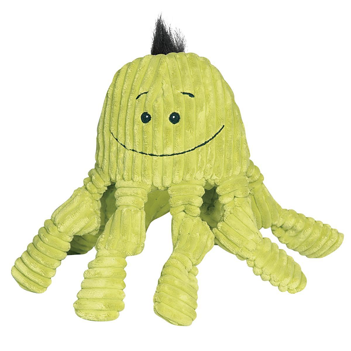 HuggleHounds Octo-Knottie Dog Toy - Citron