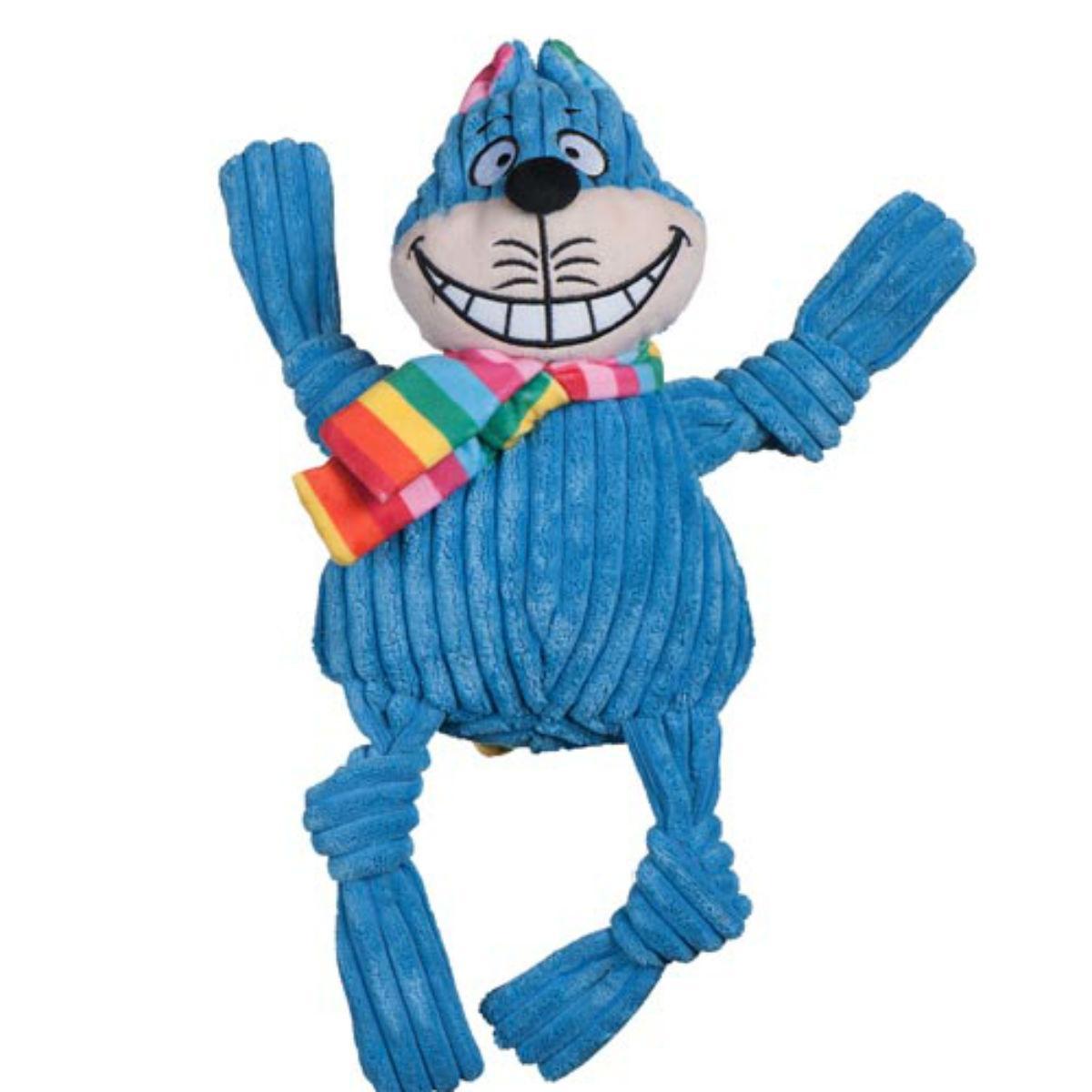 HuggleHounds Rainbow Knottie Dog Toy - Cheshire Cat