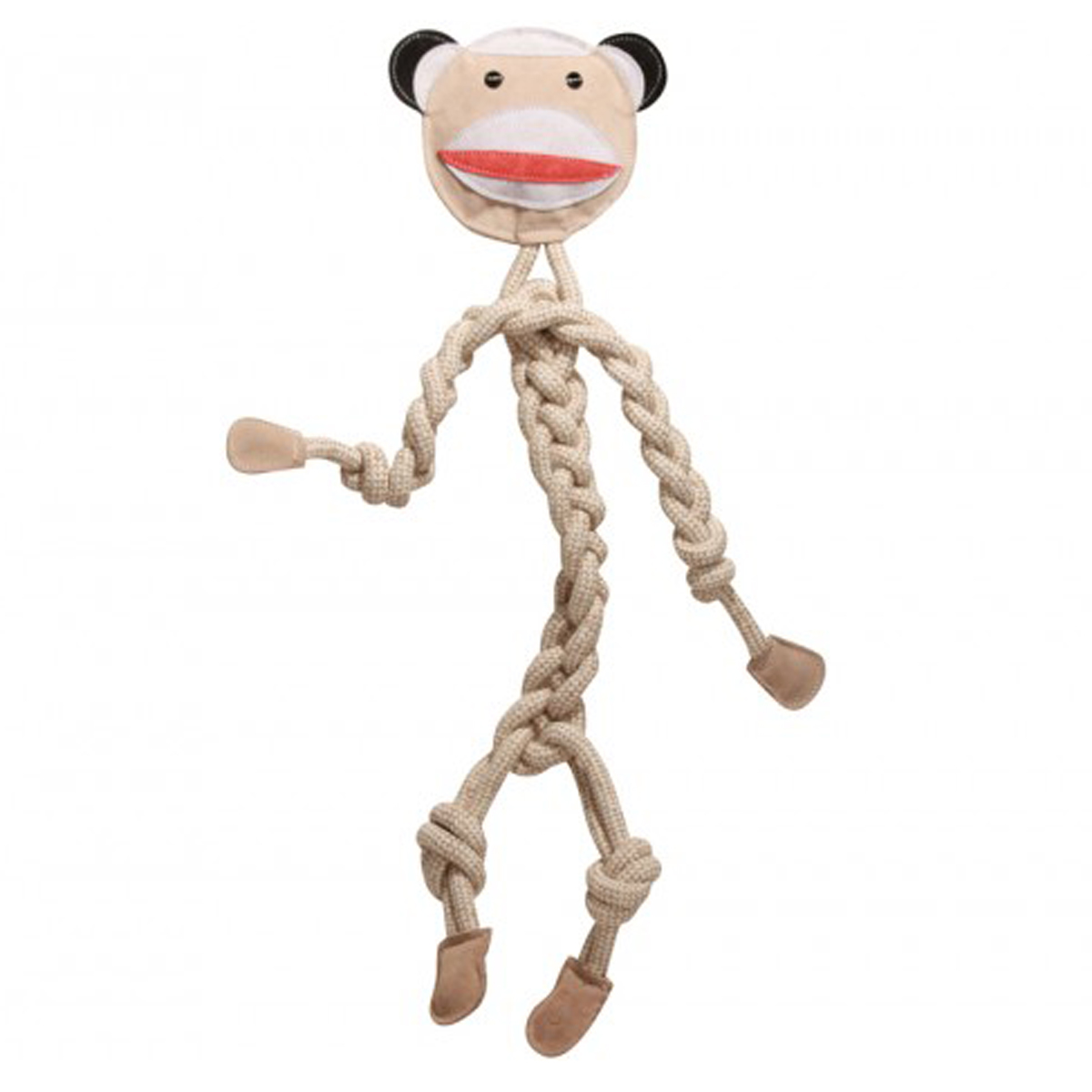 HuggleHounds Rope Knotties Dog Toy - Sock Monkey