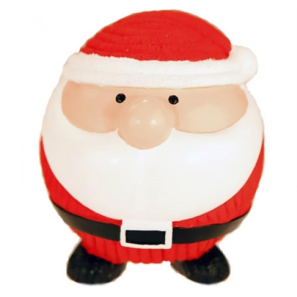 HuggleHounds Holiday Ruff-Tex Dog Toy - Santa