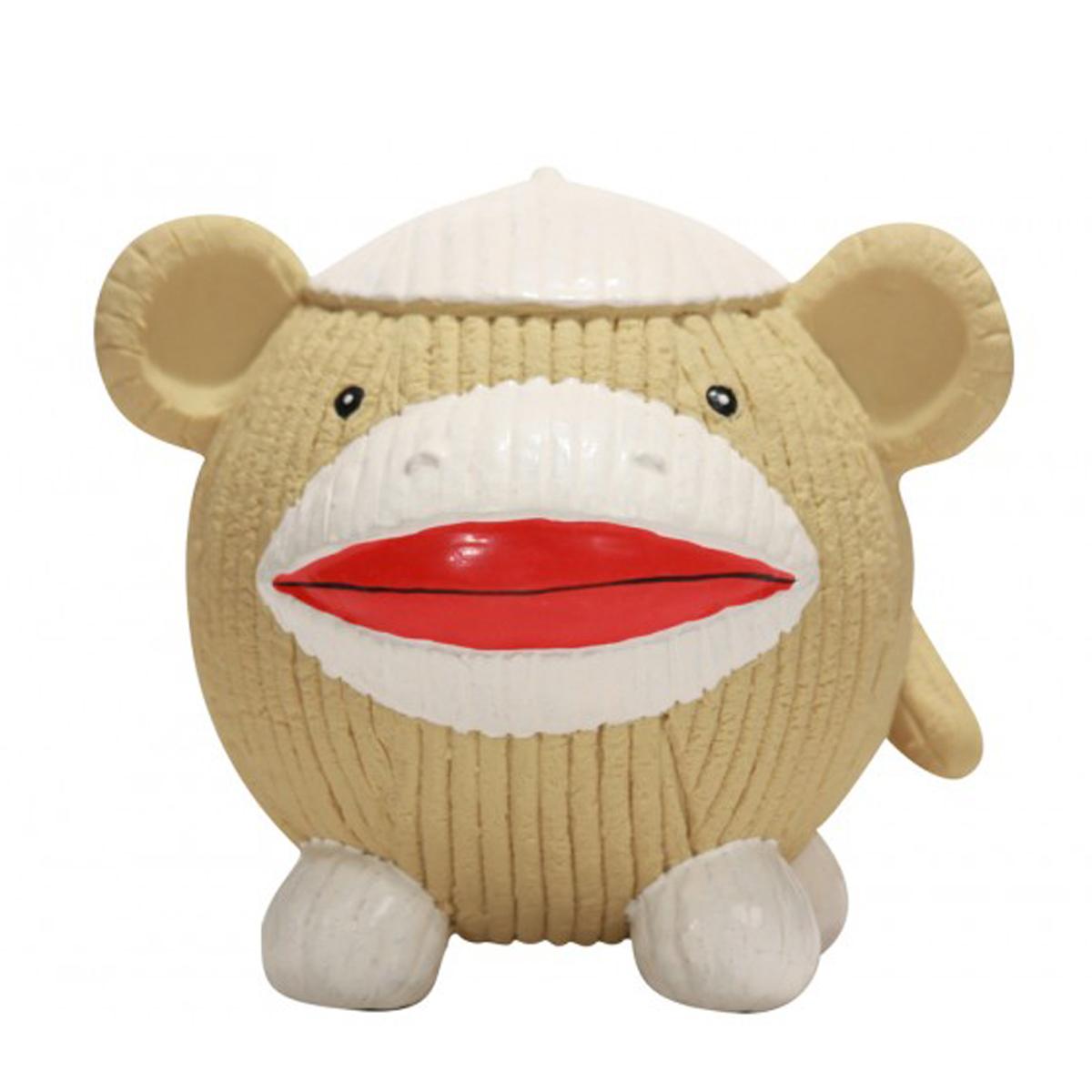 HuggleHounds Ruff-Tex Dog Toy - Sock Monkey