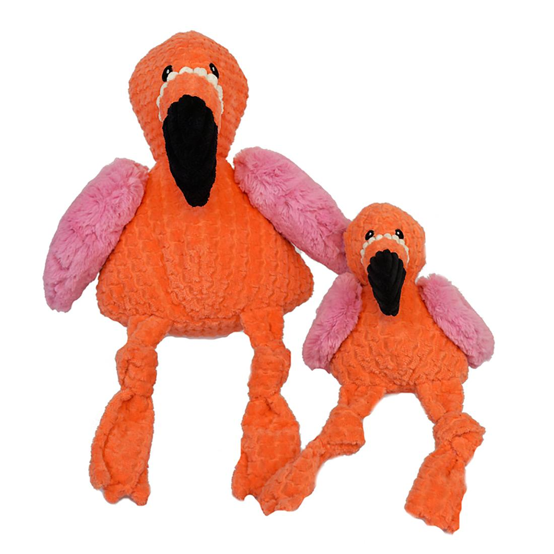 HuggleHounds Knotties Dog Toy - Flamingo