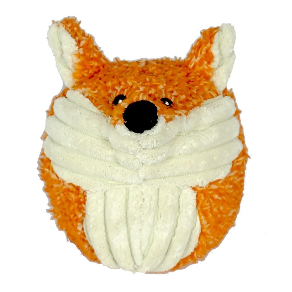 HuggleHounds Woodland Squooshie Ball Dog Toy - Foxy