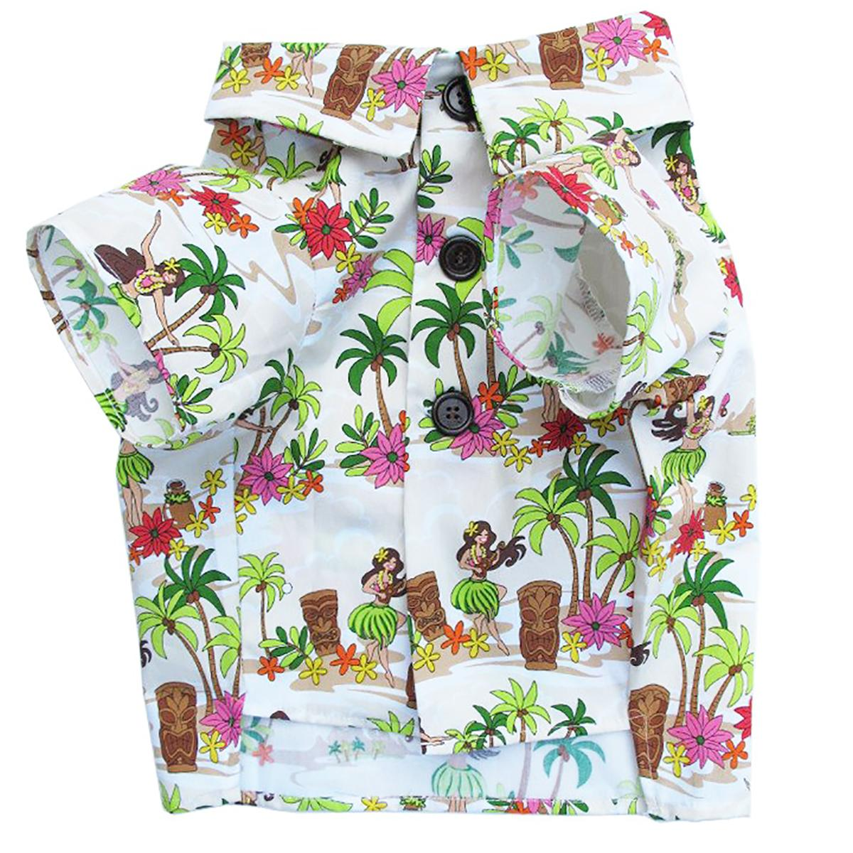 Hula Dancers BBQ Dog Shirt by Dog Threads