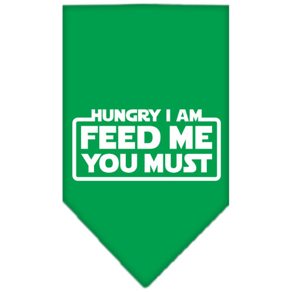 Hungry I am Dog Bandana - Green