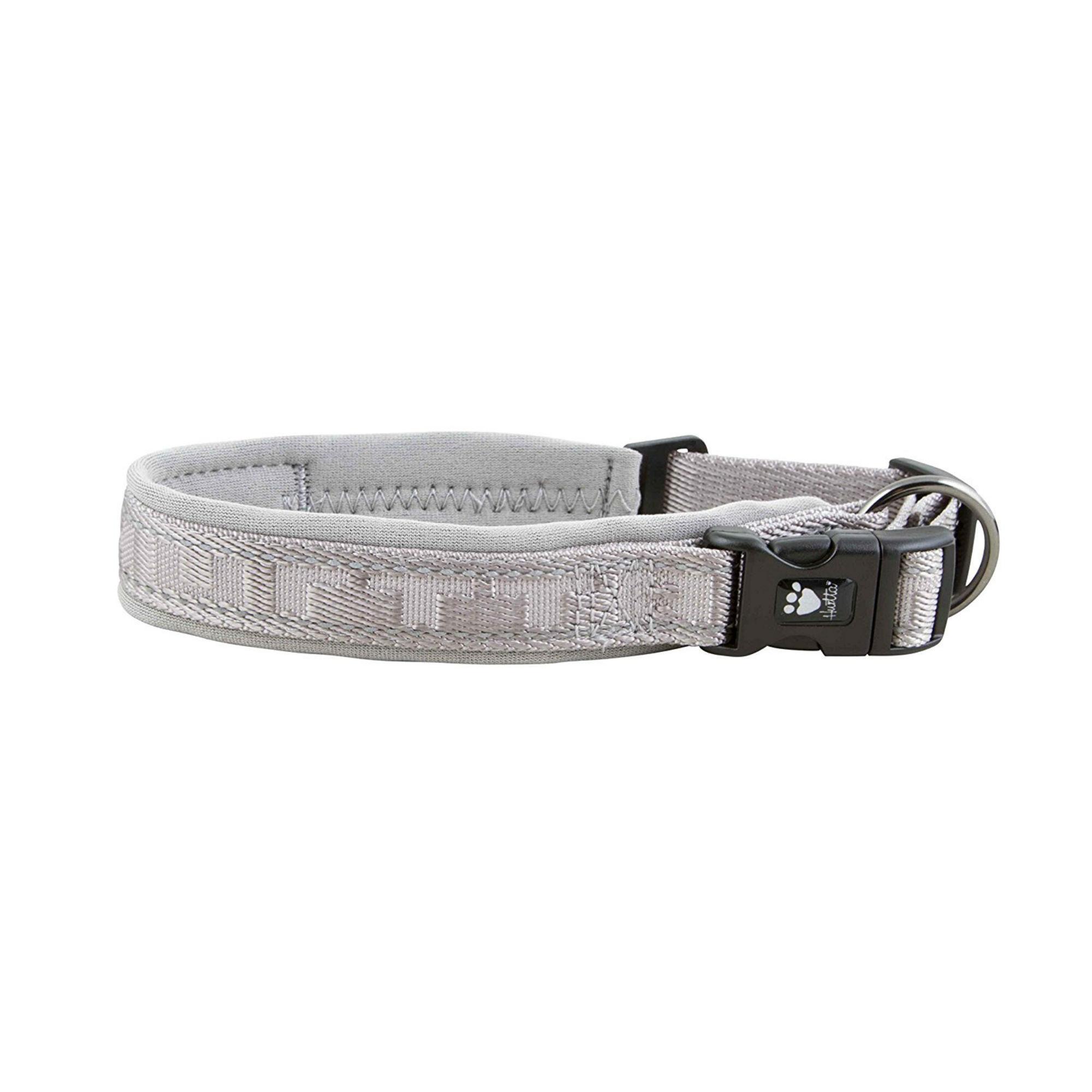 Hurtta Casual Padded Dog Collar - Ash