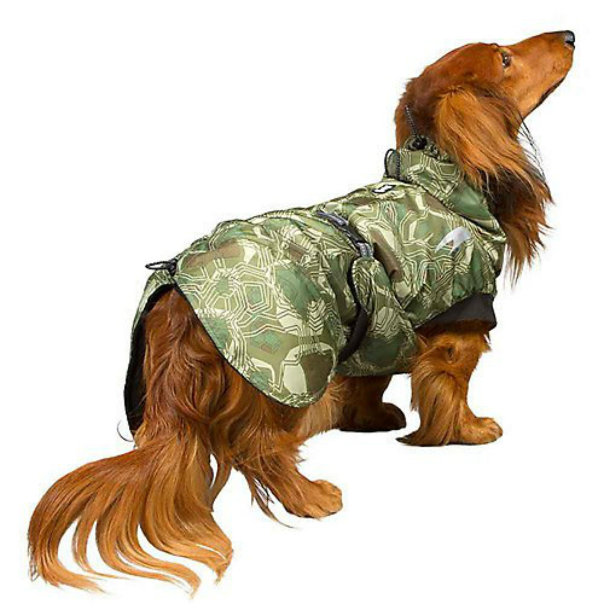 Hurtta Summit Parka Dog Coat - Green Camo