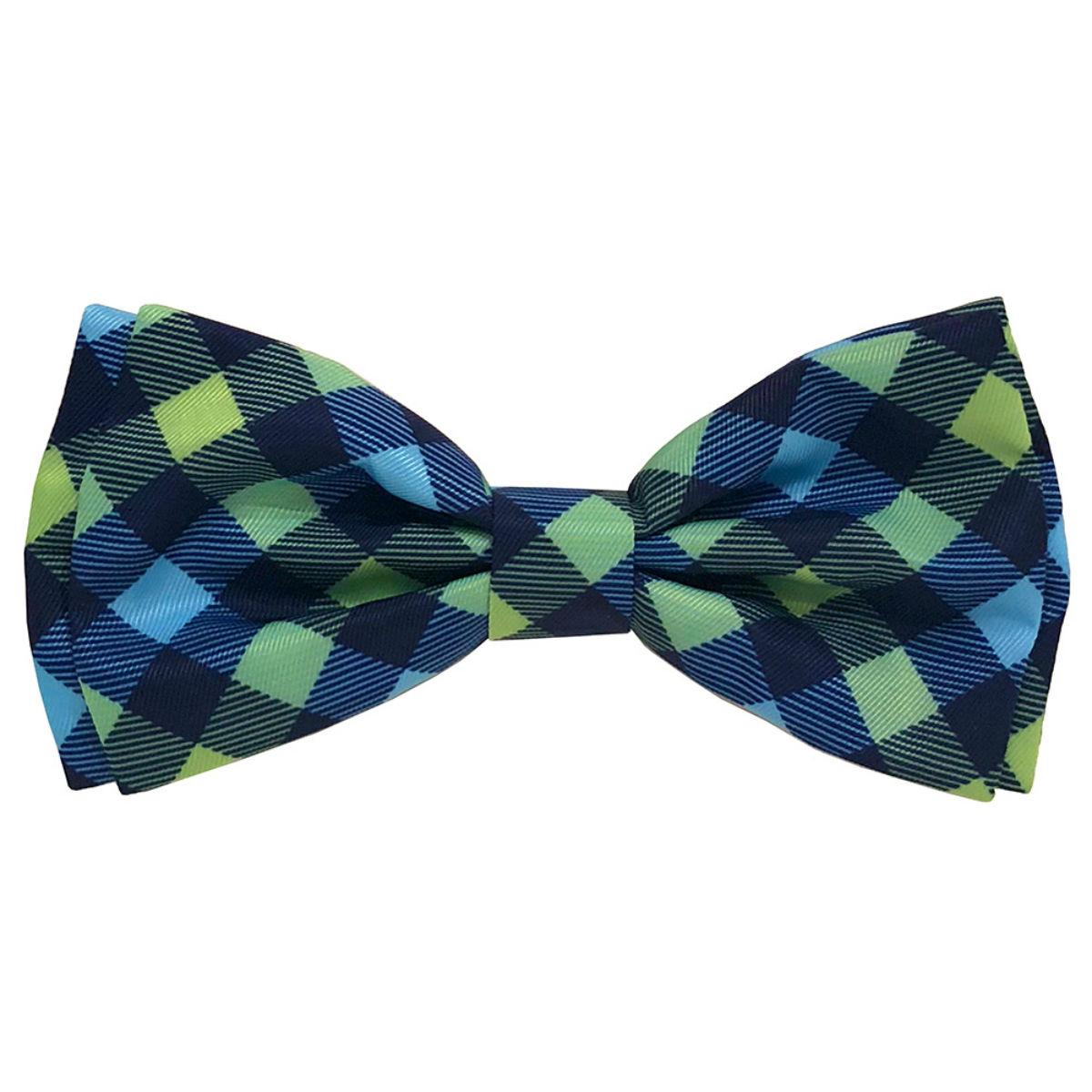 Huxley & Kent Dog and Cat Bow Tie Collar Attachment - Navy Check