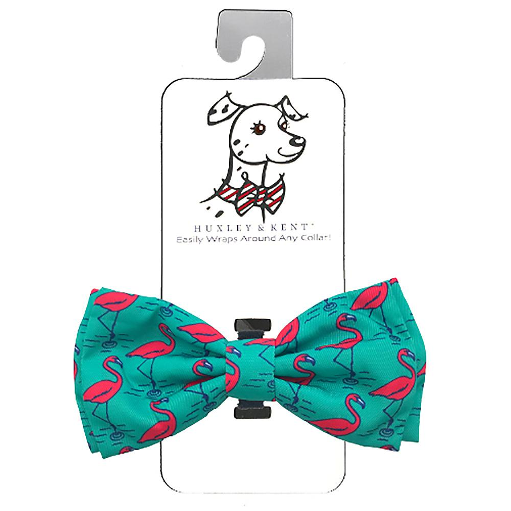 Huxley & Kent Dog and Cat Bow Tie Collar Attachment - Flamingo