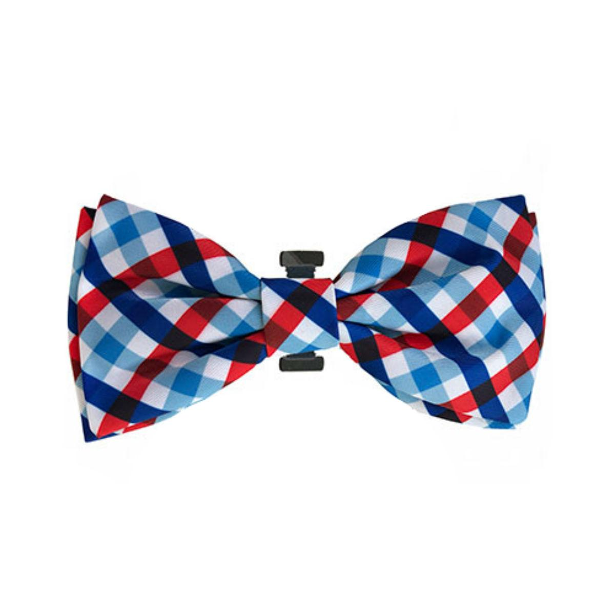 Huxley & Kent Dog and Cat Bow Tie Collar Attachment - Picnic Check