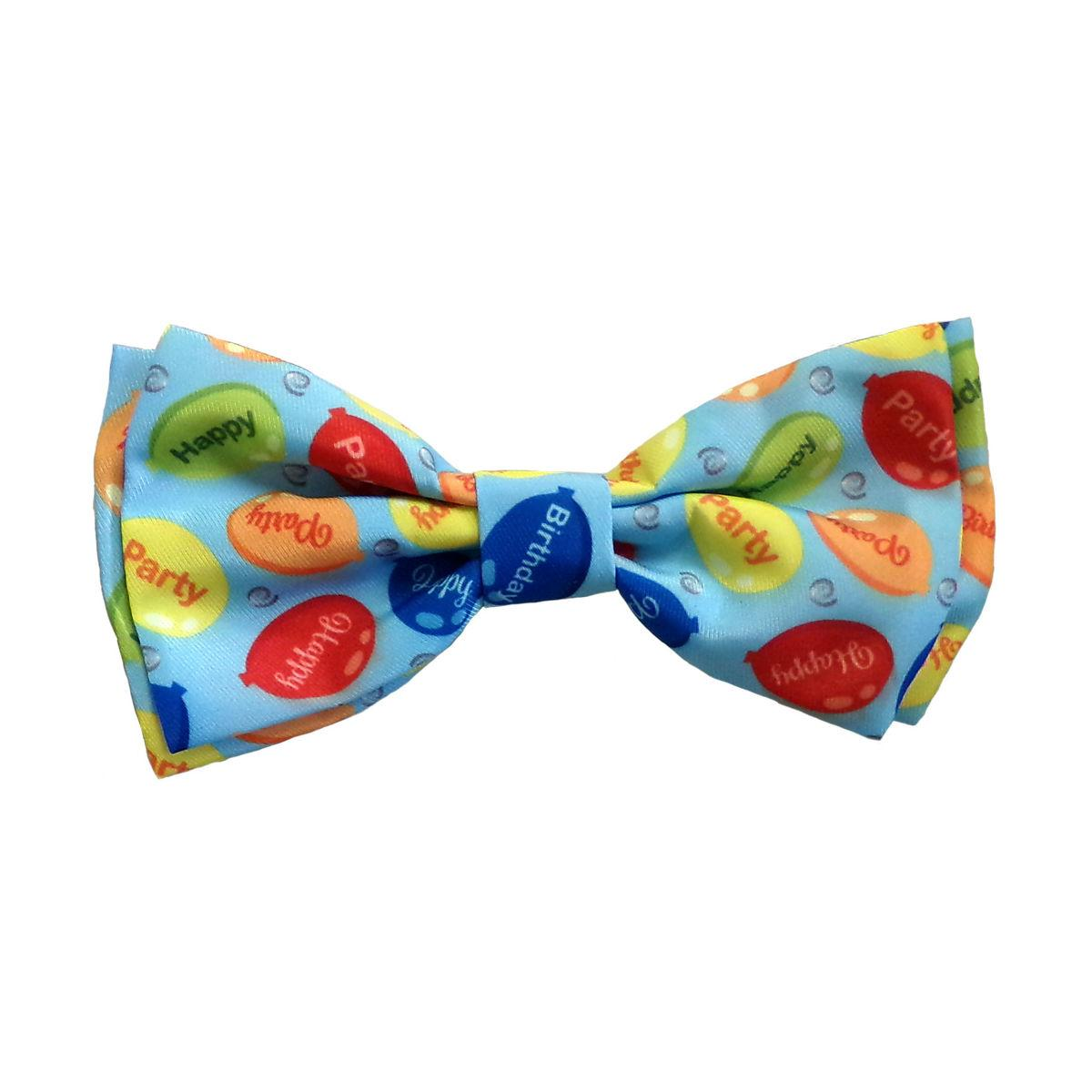 Huxley & Kent Party Time Dog and Cat Bow Tie Collar Attachment - Blue