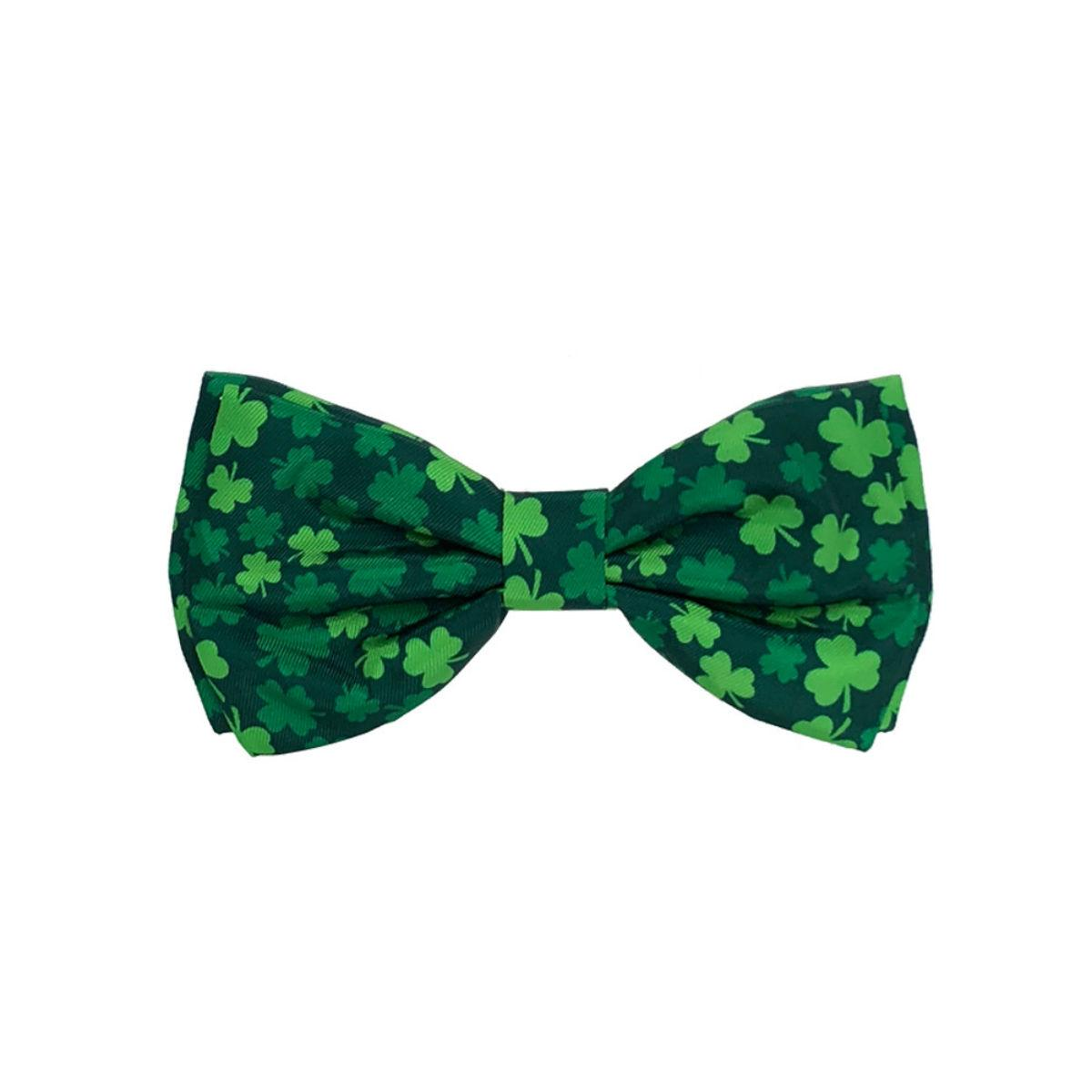 Huxley & Kent Dog and Cat Bow Tie Collar Attachment - Lucky Shamrock