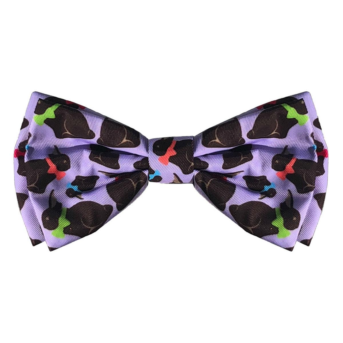 Huxley & Kent Dog and Cat Bow Tie Collar Attachment - Chocolate Bunny